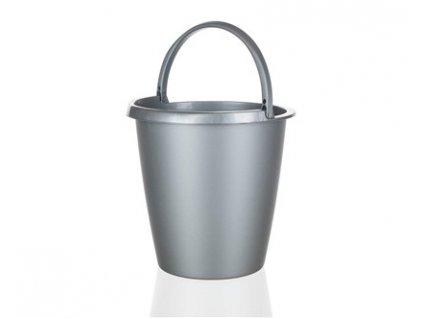 Plastový kbelík stříbrný Brilanz, objem 5 l