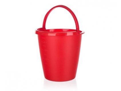 Plastový kbelík červený Brilanz, objem 5 l