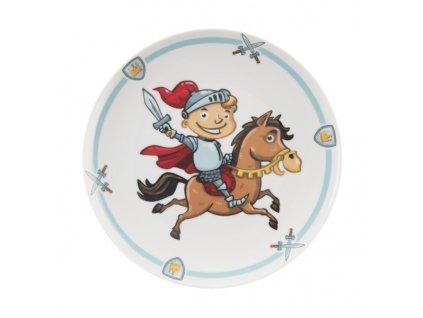 Talíř porc. mělký dětský RYTÍŘ pr. 21 cm