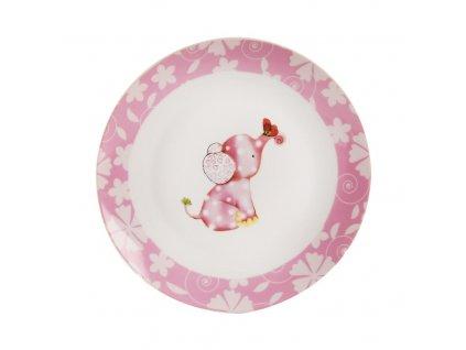 Mělký dětský talíř SLON pr. 21 cm