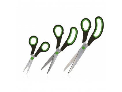 BANQUET Sada nůžek pro domácnost CULINARIA, 3 ks, černá/zelená