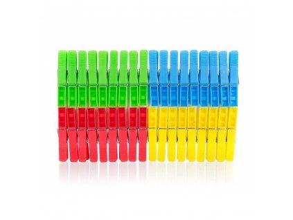 BRILANZ Sada plastových kolíčků na prádlo ECONOMY, 36 ks