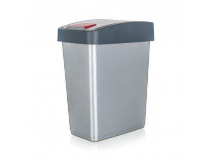 Koš odpadkový 25 l, 47,5 x 39,5 x 24 cm, šedý, Keeper