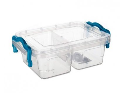 BANQUET Box univerzální dělený GEMA 2x 250 ml,  tyrkysový