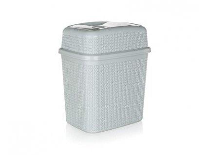 Koš odpadkový 10 l, šedý, Brilanz, 28 x 21 x 32,5 cm