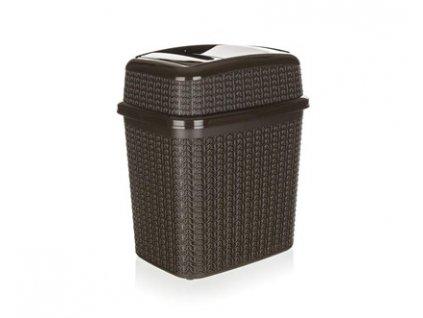 Koš odpadkový 10 l, 28 x 21 x 32,5 cm, hnědý, Brilanz