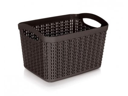 Košík ratanový 21 x 16 x 13,8 cm, 3,3 l, hnědý