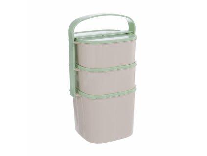 Plastový jídlonosič Almi Plus 3 patra
