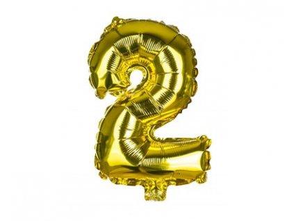 Narozeninový balónek číslice 2, výška 30 cm