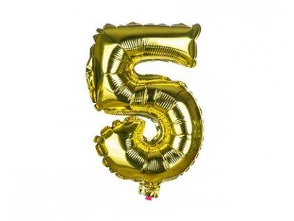 Narozeninový balónek číslice 5, výška 30 cm