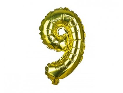 Narozeninový balónek číslice 9, výška 30 cm