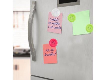 Magnet na lednici knoflík, 6 ks