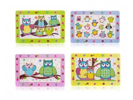 BANQUET Plastové prostírání OWLS 43 x 28 cm, assort