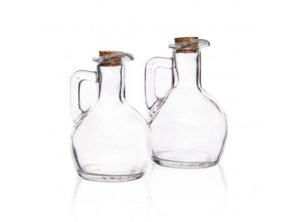 Skleněná láhev na ocet nebo olej 0,175 l, 2 ks