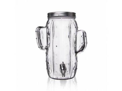 Láhev sklo s kohoutkem KAKTUS 4 l