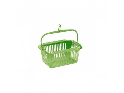 BRILANZ Košíček na kolíčky 25 x 19 x 12 cm, zelený