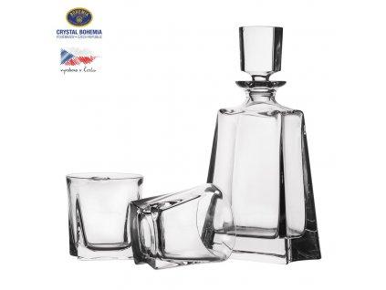 Láhev sklo WHISKY 0,7 l+ sklenice 0,32 l 2 ks
