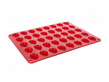 BANQUET Forma na ořechy silikonová CULINARIA 34 x 26 x 1,4 cm, červená