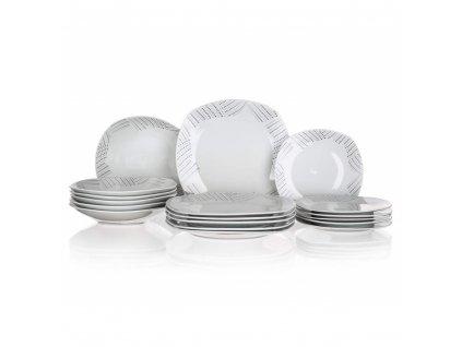BANQUET Sada talířů square CHARME, 18 ks