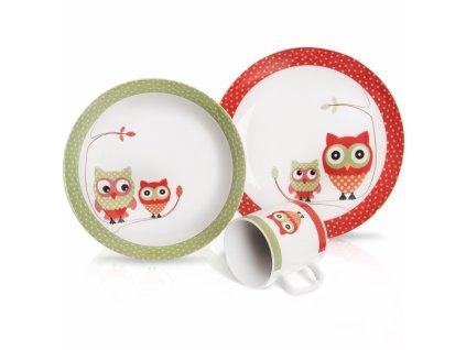 Dětská jídelní sada Sova 3 díly