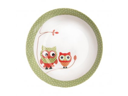 Porcelánový hluboký talíř Sova, 19 cm