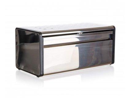 BANQUET Chlebník nerezový QUADRA 39,5 x 20,5 x 18 cm, černý lem