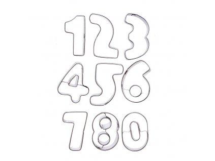 Vykrajovátko čísla, sada 9 ks
