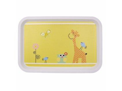 Dětský servírovací tác Žirafa, 30,5 x 21 cm