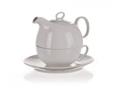 BANQUET Čajový porcelánový set TEA FOR ONE, 3 díly