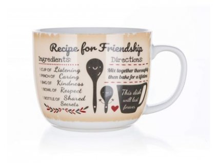 BANQUET Hrnek keramický polévkový RECIPE FOR FRIENDSHIP 730 ml