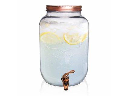 Láhev sklo+kohoutek 8,8 l