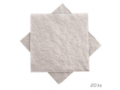 90746 ubrousek papir winter silver paw 20 ks 33x33 cm