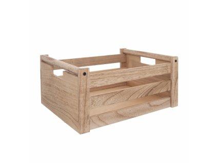 Dřevěná bedýnka Natural 31 x 21 x 14 cm