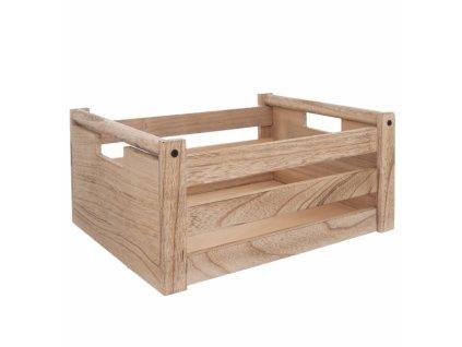Dřevěná bedýnka Natural 36 x 26 x 16 cm