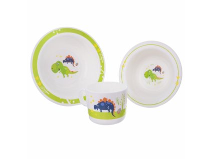 Dětská jídelní sada Dino 3 díly