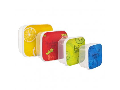 Sada plastových boxů na svačinu Child 4 ks