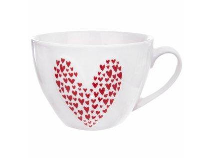 Porcelánový hrnek Srdce 0,49 l