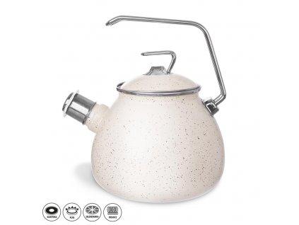 Smaltovaný čajník Grande Copper 3,7 l