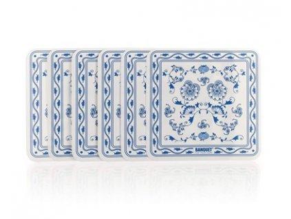 BANQUET Sada plastového prostírání ONION 10 x 10 cm, 6 ks