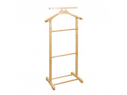 Němý domácí sluha dřevěný 99 cm, světlý