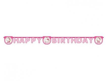 Girlanda papírová HELLO KITTY Happy Birthday 2,4 m