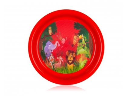 BANQUET Talíř plastový ZOO 19,5 cm
