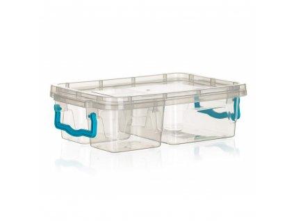 BANQUET Box univerzální dělený GEMA 2x 330 ml + 970 ml, tyrkysový