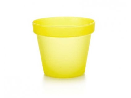 Plastový květník 11 cm Patio Soft žlutý