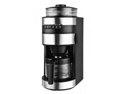 Kávovar s mlýnkem na kávu KALORIK CCG 1006, černý s chromovými prvky