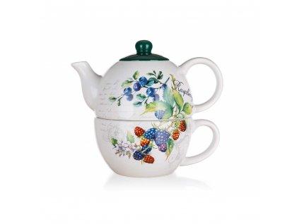 Keramická konvička na čaj Banquet Raspberra 0,33 l