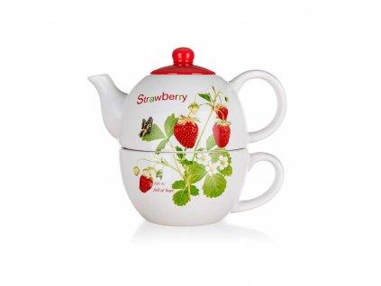 Keramická konvice na čaj Banquet Strawberry 0,33 l