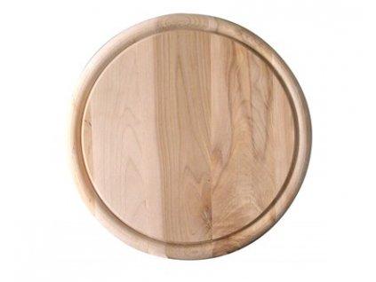 Dřevěná kulatá prkénka Banquet 25 cm