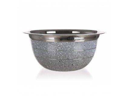 BANQUET Mísa nerezová GRANITE Grey 23,5 x 11 cm
