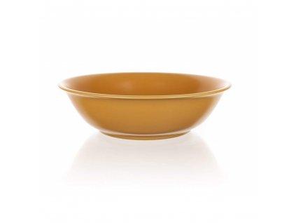 BANQUET Mísa keramická AMANDE 24,5 cm, žlutá mat